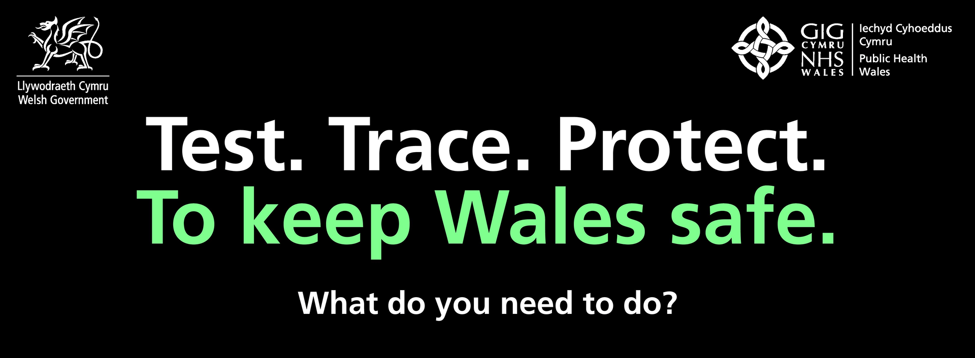 Test. Trace. Protect. To Keep Wales safe.